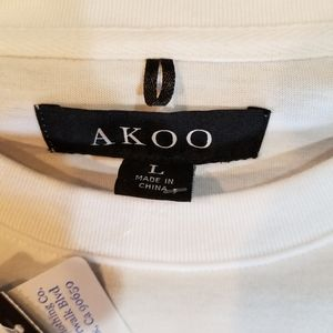 Akoo Knit short sleeve Embroidered Tee (77S-0399)